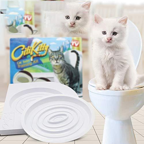 Binghotfire Articoli per Animali Domestici Toilette per Animali Domestici Vasino per Gatti Trainer per WC Cat Five Gears Colorful