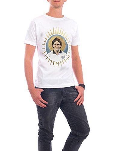 """Design T-Shirt Männer Continental Cotton """"Ikone Lineker"""" - stylisches Shirt Sport / Fußball von David Diehl Weiß"""
