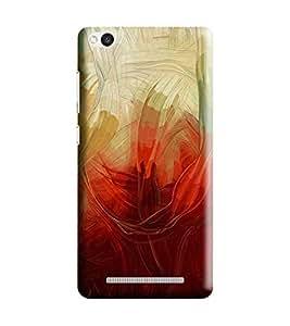 Hi-Me Designer Phone Back Case Cover Xiaomi Mi3 :: Xiaomi Mi 3 ( Techno Art Blood Red Pattern )