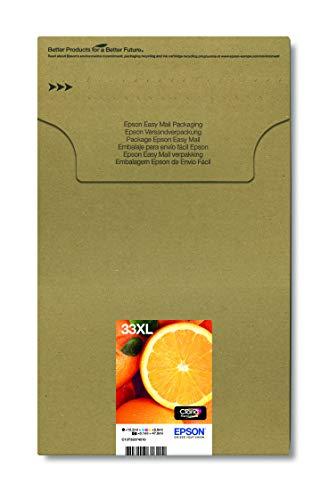 Epson Original T3357 Orange, Claria Premium Tinte XL, Text- und Hochglanzfotodruck ( Multipack 5-farbig) (CYMK + Photo-schwarz)