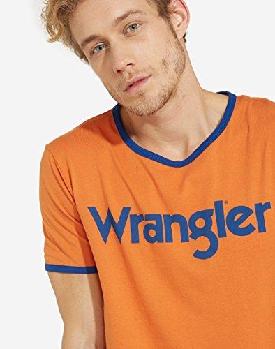 Wrangler Herren T-Shirt Kabel Tee Orange (Apricot Orange T2)