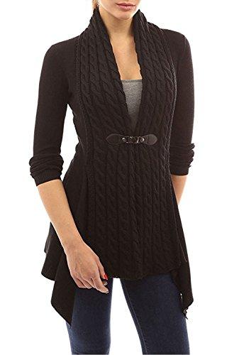 Maglione donna manica lunga moda mantelle giacca cappotto cardigan irregolare scollo v maglioni di maglia maglieria knitted pullover tops elegante autunno inverno – landove