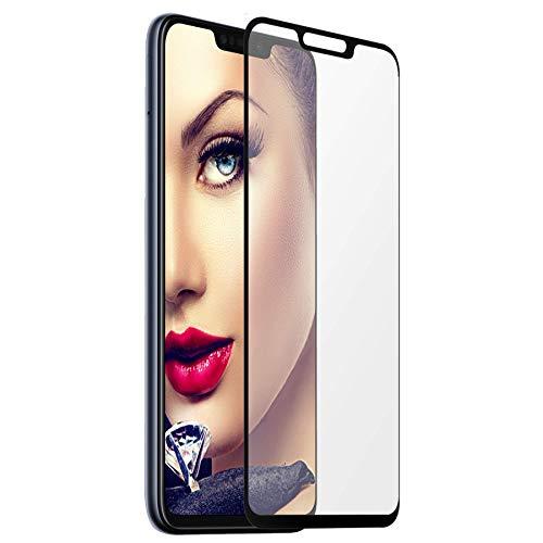 mtb more energy® Gerahmtes Premium Schutzglas für Asus Zenfone Max M2 (ZB633KL, 6.26'')   Full Face   schwarz   Bildschirm Tempered Glas-Schutzfolie