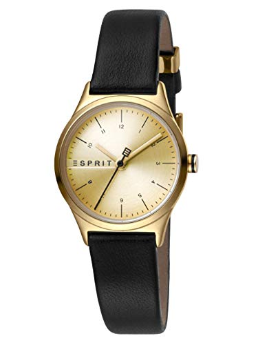 Esprit Damen Analog Quarz Uhr mit Leder Armband ES1L052L0025
