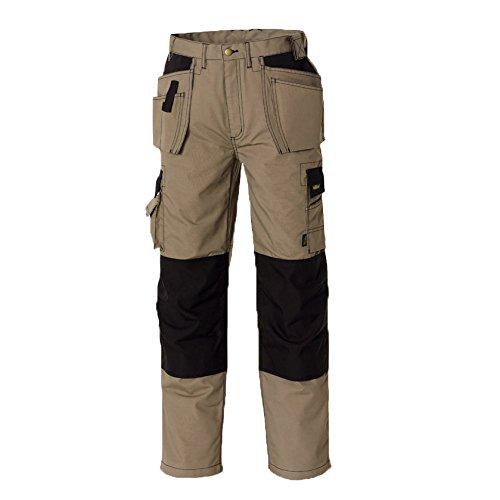 teXXor - Pantaloni da lavoro in saia, mod. Panama, Kaki, 20-004312-52