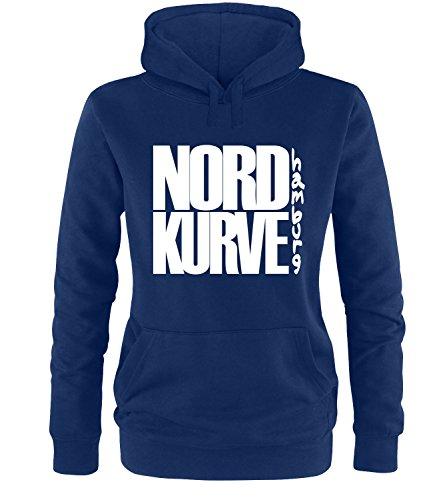 Luckja Nordkurve Hamburg Damen Hoodie, Navy / Bunt, S