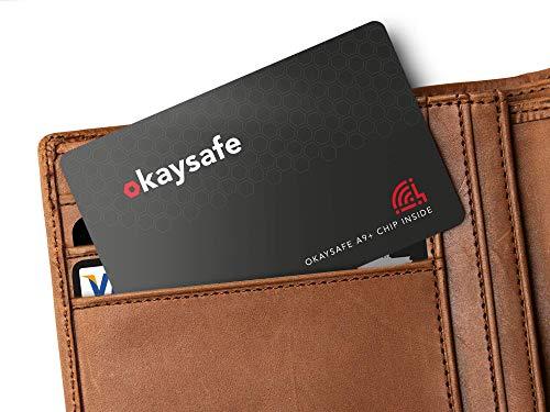 kaysafe A9+ RFID Blocker Karte - RFID & NFC Schutzkarte - 9 cm Schutz Reichweite - Militär Störsender Technologie 2019-1,2 mm dünn - 100% Sicherheit vor Datendiebstahl für Kreditkarten & Ausweise - Super Protector