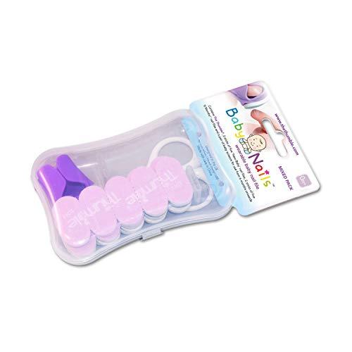 Baby nails - lime unghie per neonati, bambini (0 mesi +) lima unghie cura, pulisce e rifinisce i cura delle unghie per dita di mani e piedi i manicure neonato, bambino - pacchetto convenienza (6 x 5)