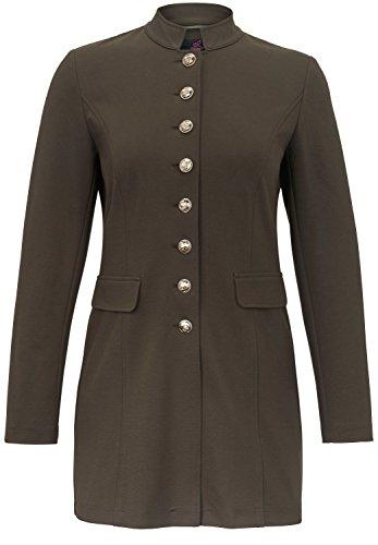 EMILIA LAY Damen Jersey-Gehrock im Military Look Dekorative Nähte