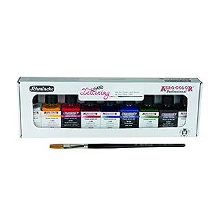 Schmincke Aero Color Hand Lettering Set 9x28ml + DaVinci 1350 Brush