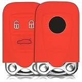 Hülle für Alfa Romeo 3-Tasten Smart Key Autoschlüssel - kwmobile Silikon Schlüssel Schutzhülle in Rot - Etui Schlüsselhülle Cover Auto Zündschlüssel