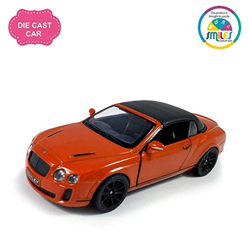 Smiles Creation KT5353D Kinsmart 1:38 Scale Die Cast Metal 2010 Bentley Continental Super sports Car with Glossy Finishing Exteriors Toys, Orange (5-inch)  available at amazon for Rs.399