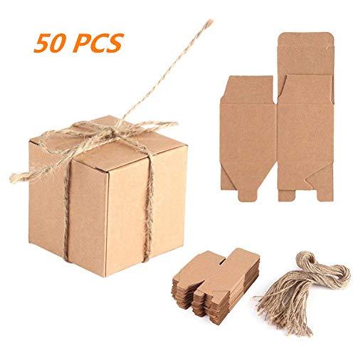 pier Geschenk Box Kraftpapier Box mit braunen Hanfseil Hochzeit Gefälligkeiten Baby Shower Birthday Party Supplies ()