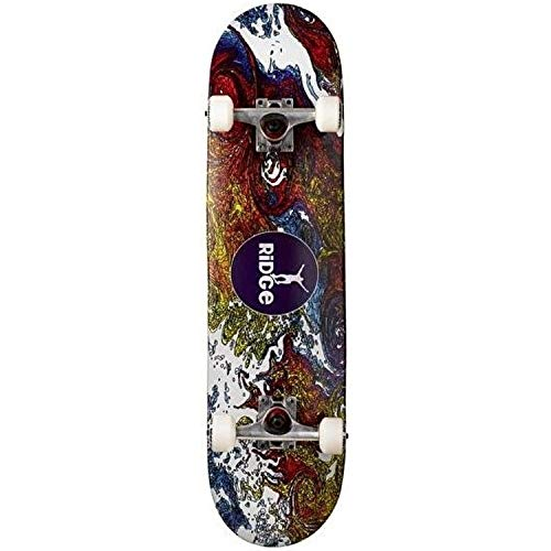 Ridge Skateboard Doppel Kick Trick Ahorn Concave Board, Mehrfarbig, STANDARD (Trick-board)