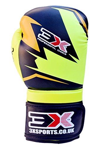 Professional Choice X3 'Best Boxhandschuhe für Sparring und in der Ausbildung der Kickboxing, und die, Unisex, Kinder, Florescent/Black, 283,5 g (10 oz)