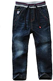 Echinodon Pantalones vaqueros para niños, 100 % algodón, ligeros, suaves, para primavera, verano, otoño