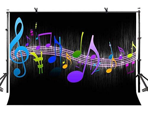 inweis Hintergrund Erwachsene Kinder Musik Thema Party Fotostudio Video Requisiten LYZY0123 ()