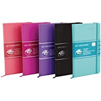 Pukka Signature Soft Cover Notebook A5 Casebound 192 Pages Assorted [Pack of 5]