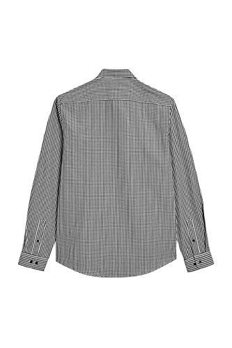 next Uomo Camicia A Quadretti A Maniche Lunghe Vestibilità Regular Nero/Bianco