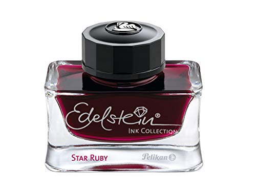 Pelikan 300780 Tinte Star Ruby, 50ml, Edelstein Ink Collection Ink of the Year 2019, 1 Stück