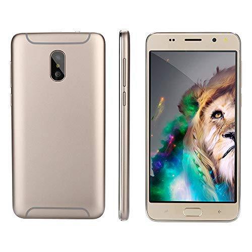 Oasics Smartphone, Neue Art und Weise 5,0 Zoll Doppel-HDCamera Smartphone Android IPS-GANZER Bildschirm GSM/WCDMA 4GB Touch Screen WiFi Bluetooth GPS 3G Anruf-Handy (Gold)