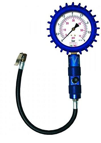 Manometro made in Italy verifica pressione gomme pneumatici professionale TVR - Diametro quadrante 63mm BLU