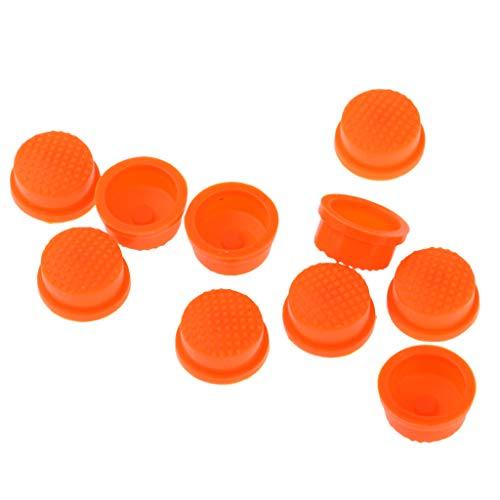 B Baosity 10pcs LED Taschenlampe Licht Schalter Taste Abdeckkappe - Orange -