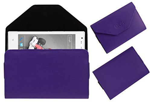 Acm Premium Pouch Case For Lava Xolo A600 Flip Flap Cover Holder Purple  available at amazon for Rs.329