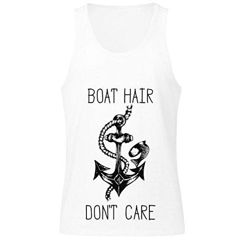 idcommerce Boat Hair Don't Care Men's Tank Top Shirt