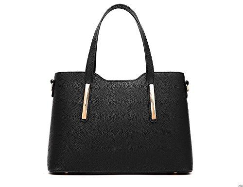 VADOOLL Damen Handtaschen Umhängetasche Taschen Handtasche Shopper Schwarz