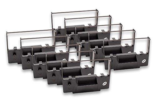 vhbw 10x Farbband Nylonband Tintenband für Nadeldrucker Omron 4500, 4502, 4503, PR 60-02, RS 4502, RS 4503, SP 60