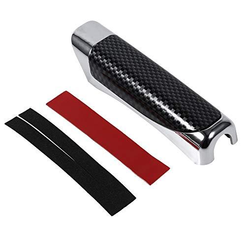 Keenso KFZ Handbremse Break Dekoration Handbremsabdeckung mit Sticky Gum Cover Holz und Carbon Fiber Style(schwarze Kohlefaser)