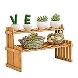 Lxlc Massivholz Blumenständer, Tischplatte, Mini Blumenständer, Büro, Fensterbank, Lagerung, Lagerregal, Pot Rack, Fleischig, Kleine Pflanze Stehen, Kombi-Ständer (größe : Medium37cm)