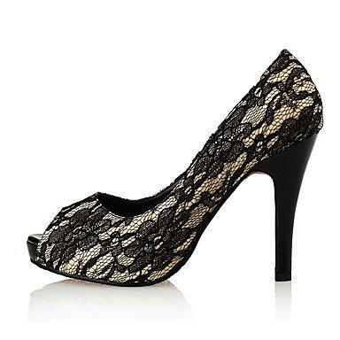 Moda Donna Sandali Sexy Donna Sandali tacchi / Peep toe / Piattaforma / Stili Pizzi / tessuto / Matrimoni Party & sera abito / Stiletto Heel Purple