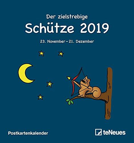 Sternzeichen Schütze 2019 - Postkartenkalender, Sternzeichenkalender, Astro, Horoskop - 16 x 17 cm