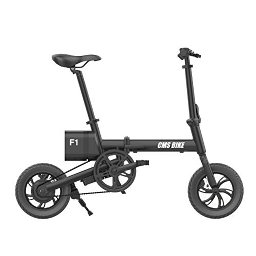 12 Zoll Elektrofahrrad Qicycle Mini Elektrofahrrad Ebike Smart Folding Bike Lithium-Batterie Version Ebike,Schwarz,12inch