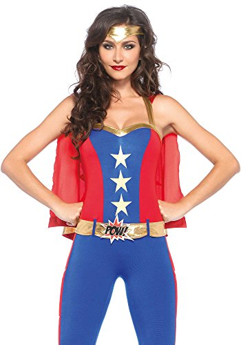 The Good Life Leg Avenue Damen Comic Buch Super Held Kostüm Kleidung Größe 40-42 (Comic Kostüm Held Super)