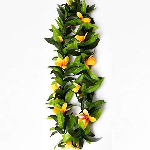 Gshy Hawaii Girlande, künstliche Blumen, Dekoration, Zubehör für Partys, Orchideen, Blätter, Girlande, Kostüm, Party, Dekoration, Blume, 120 cm, 1 - Orchidee Kostüm