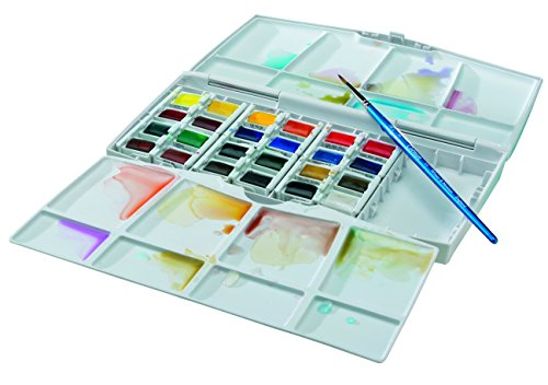 Winsor & Newton Cotman Aquarellfarbe Painting Plus Set 24 halbe Näpfe