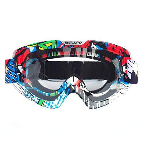 LCCYJ Unisex Motocross Aviator Ski Motorrad Roller Brille Retro Sonnenbrille Helmbrille UV-Strahlen,10