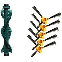Louu Cepillo Lateral 5 + Cepillo para Mezclar * 1 para aspiradora Robot Deebot Deepoo D58