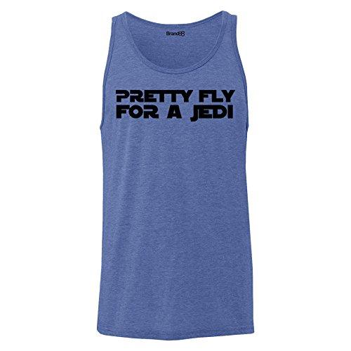 Brand88 - Pretty Fly For A Jedi, Unisex Jersey Weste Blau Meliert