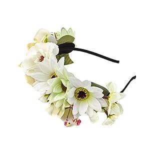 MagiDeal Boho Damen Mädchen Blume Haarreif Blumenstirnband Garland Festival Hochzeit Braut Brautjungfer Haarband Kopfband Kranz