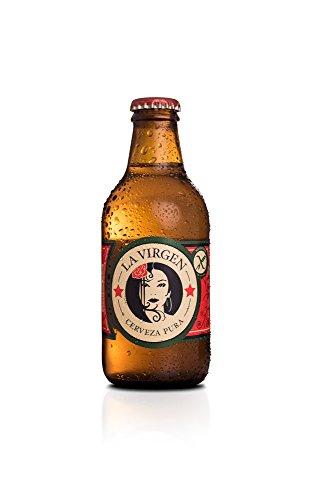 La Virgen Cerveza Artesana Madrid Lager sin Gluten - 24 Paquetes de 250 ml - Total: 6000 ml