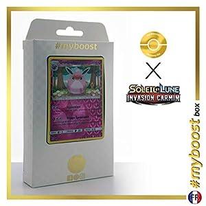 Grodoudou (Wigglytuff) 72/111 Holo Reverse - #myboost X Soleil & Lune 4 Invasion Carmin - Box de 10 Cartas Pokémon Francés