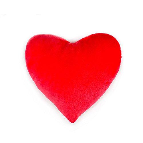 Herzkissen,SUNYOU Weiche Flauschige Wurfkissen Kissen Rücken Sitzkissen(Rot) -