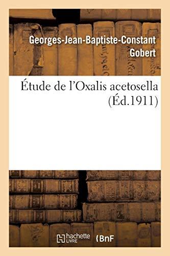 �tude de l'Oxalis Acetosella