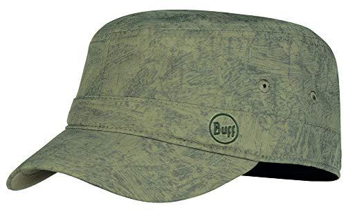 Buff Military Cap Militär-Cappy + Ultrapower Schlauchtuch | UV-Schutz | Armee Schirmmütze | Militär-Cappy | Feldmütze | Kappe | Zinc Taupe Brown S/M - 119519.316.20.00 -
