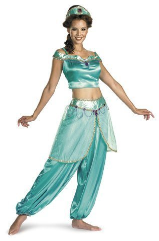 Disney Aladdin Deluxe Princess Jasmine Adult Costume Medium 8/10