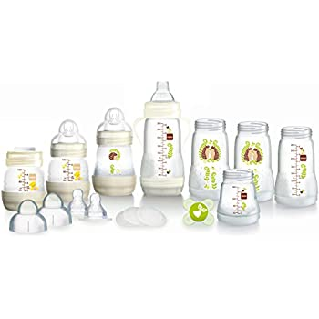 MAM Anti-Colic Self-Sterilising Bottle Starter Set, White